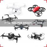 Desde TipDom te traemos una recopilación de los mejores drones con cámara, muy económicos con su magnifica relación calidad precio y unas valoraciones muy buenas. Encontraras desde drones para principiantes, siendo apto para niños; hasta drones para un perfil mas profesional. Todos ellos disponen de cámara para grabar vídeos. Esperemos que les haya gustado la recopilación de mejores drones por menos de 200€, todos ellos los podrás comprar en Amazon directamente de nuestra web.